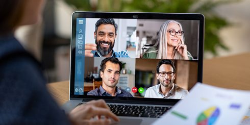 remote work zoom call